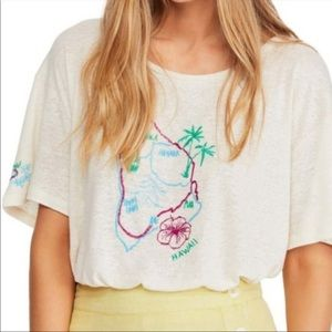 Free People   We The Free   Embroidered Hawaii Top